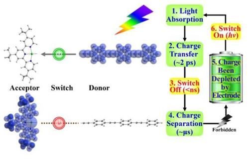 首个自适应开关的有机分子太阳能电池设计