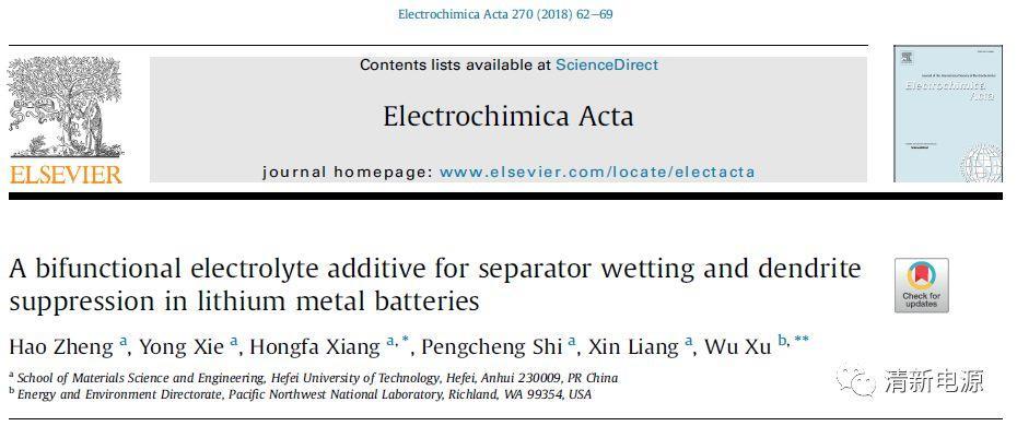 emmmmm电解质添加剂还可以润湿隔膜&抑制锂枝晶?