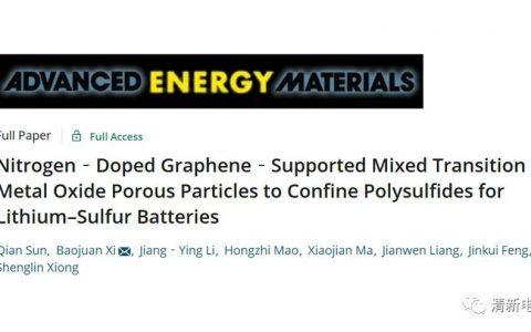 尖晶石型混合过渡金属氧化物的优越性:氮掺杂石墨烯负载混合过渡金属氧化物多孔颗粒作为锂硫电池正极材料的硫载体