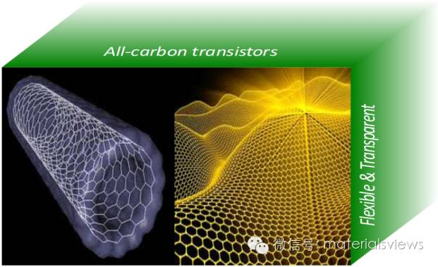 面向柔性和透明电子的全碳薄膜晶体管