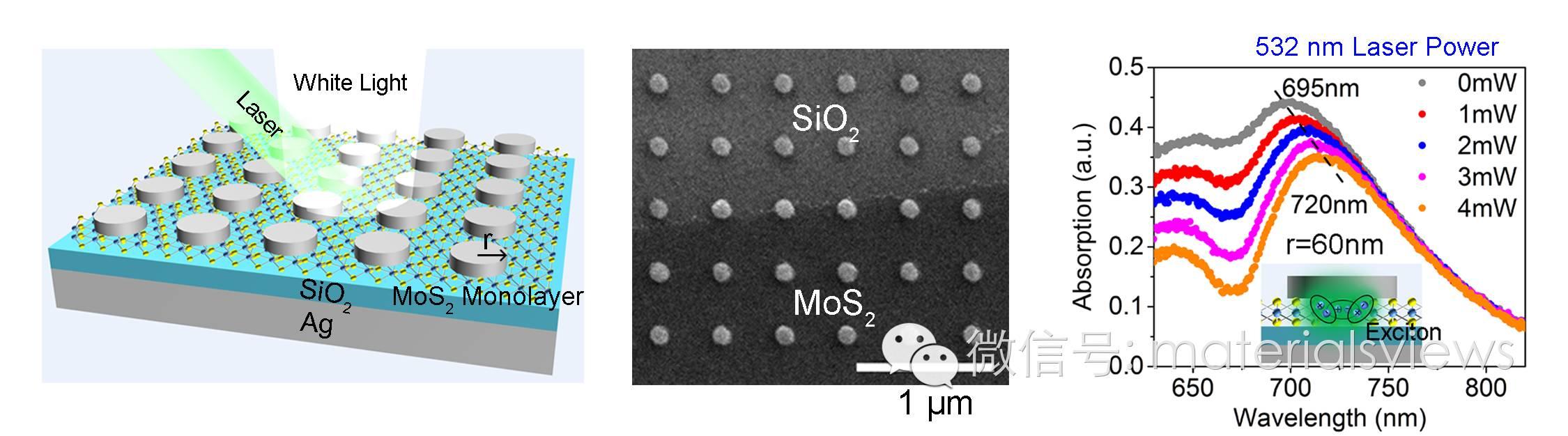 光控光子器件新思路——激光主动调控单层二硫化钼/银纳米天线复合结构中等离激元与激子的耦合
