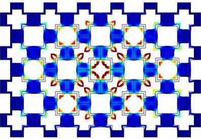 Physica Status Solidi RRL(PSS RRL):凹凸孔结合十字形二维声子晶体的超宽带隙