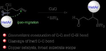 通过远程杂芳基迁移实现的非活化烯烃的杂芳基硅基化反应