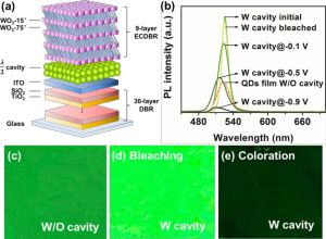 Advanced Optical Material:可逆的电调谐微腔发光器件