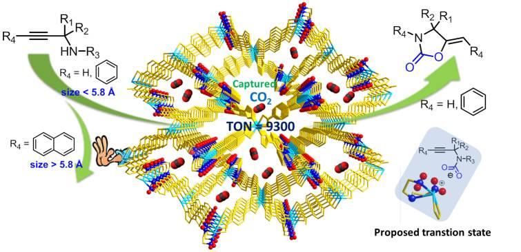 动态金属有机框架材料用于高效催化转化二氧化碳