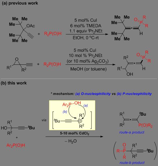 CdCl2催化炔丙醇和二芳基磷氧化合物的脱水偶联反应