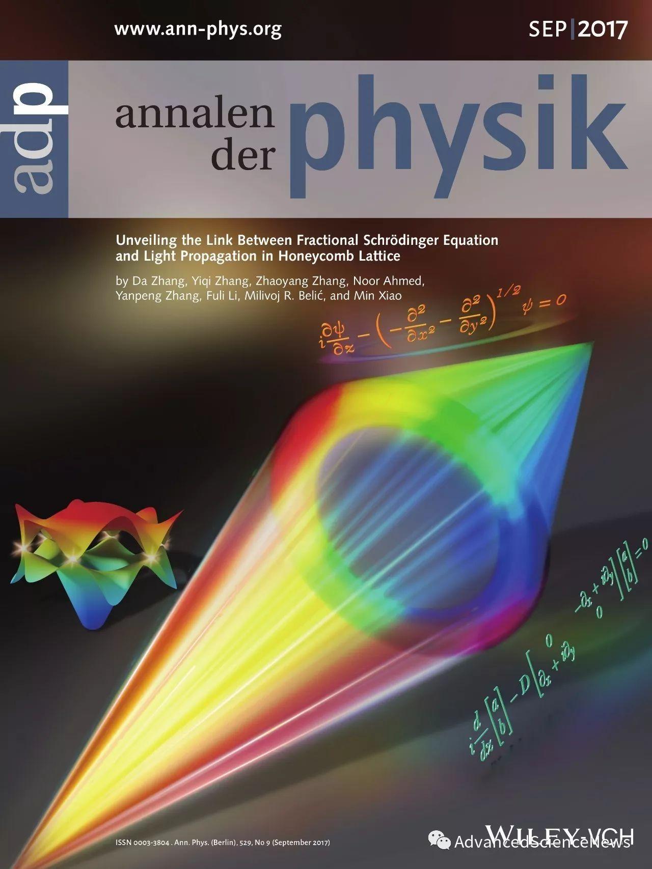 探究光在蜂窝晶格中的演化和分数薛定谔方程之间的关系