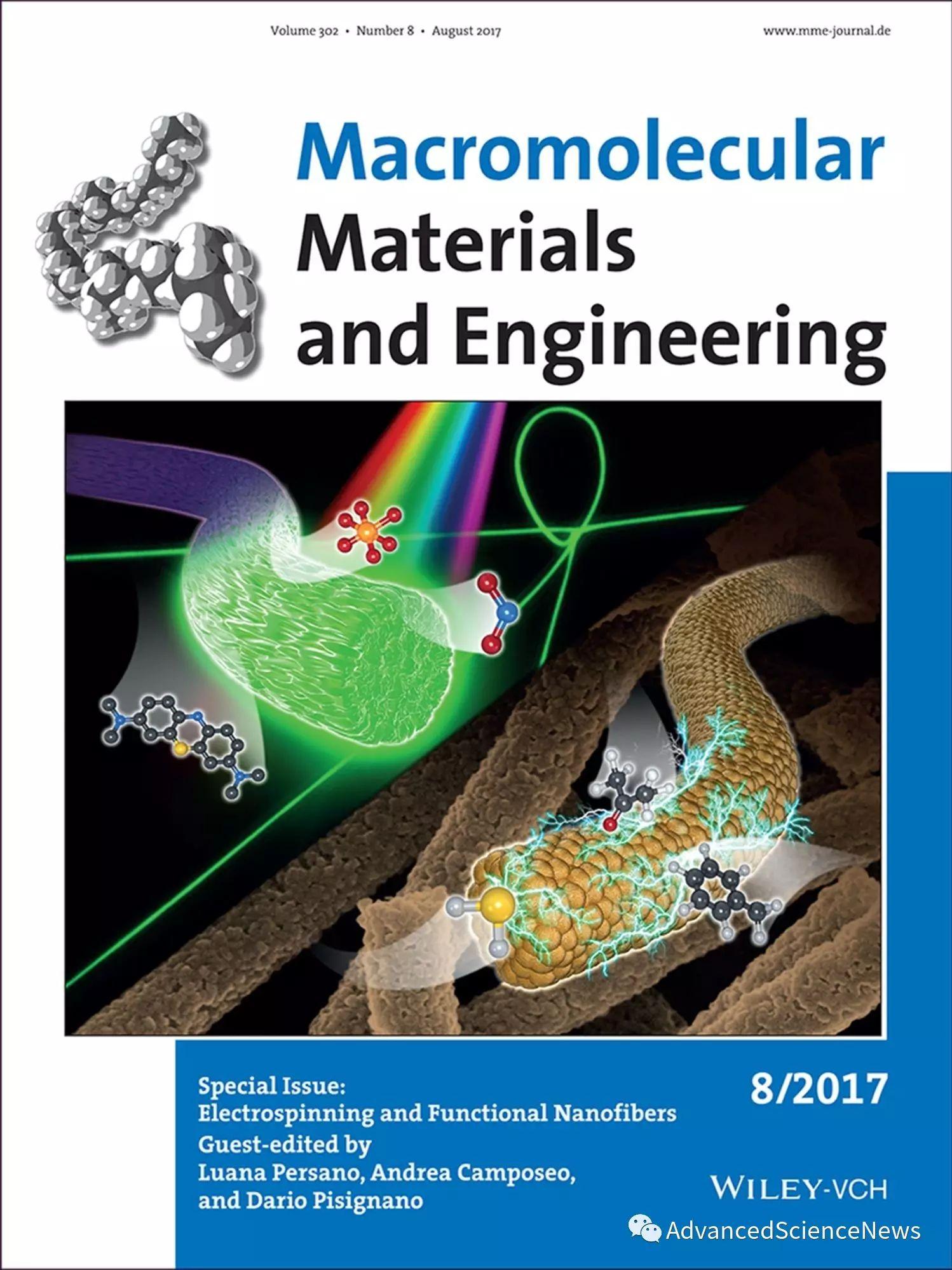 Macromolecular Materials and Engineering最新专刊:电纺纤维和功能纤维最新进展