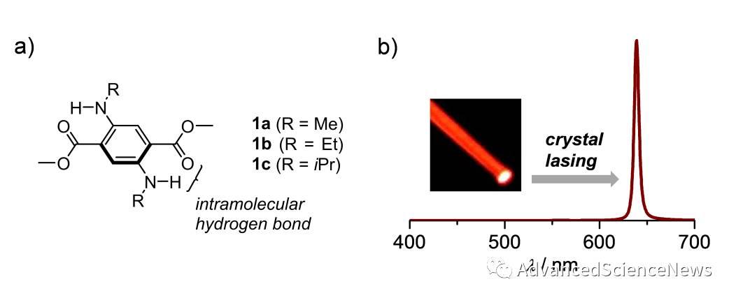 迷你荧光分子:单苯环骨架实现晶体高效红光发射及放大自发射