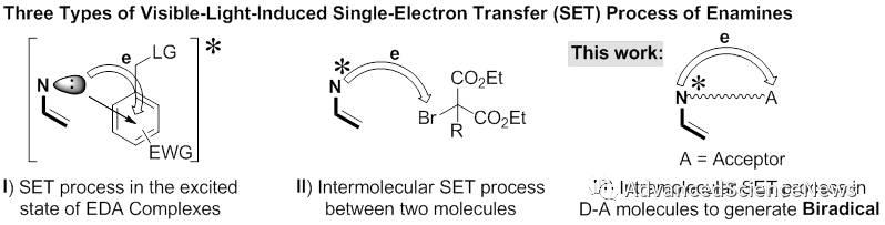 可见光促进的缺电子烯烃双碳基化反应