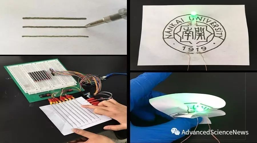 可折叠电子纸的设计新策略:可直接书写的导电墨水笔