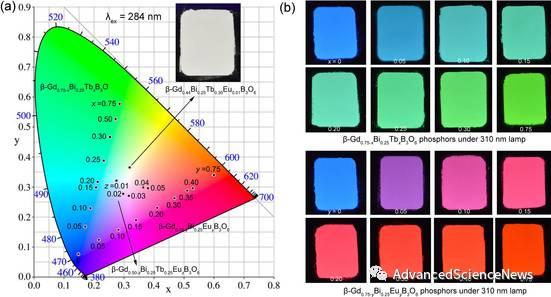 稀土元素掺杂的硼酸盐多形体及其光致发光性质