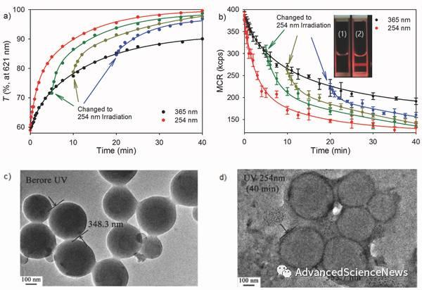 光交联和光解离组合法即时调控聚合物胶束的双亲平衡与稳定性