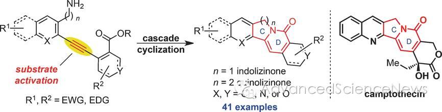 喜树碱以及相关天然产物的全合成