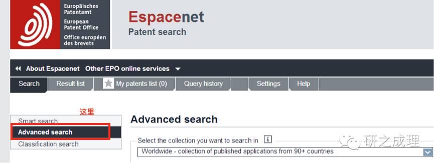 专利家族的检索方法