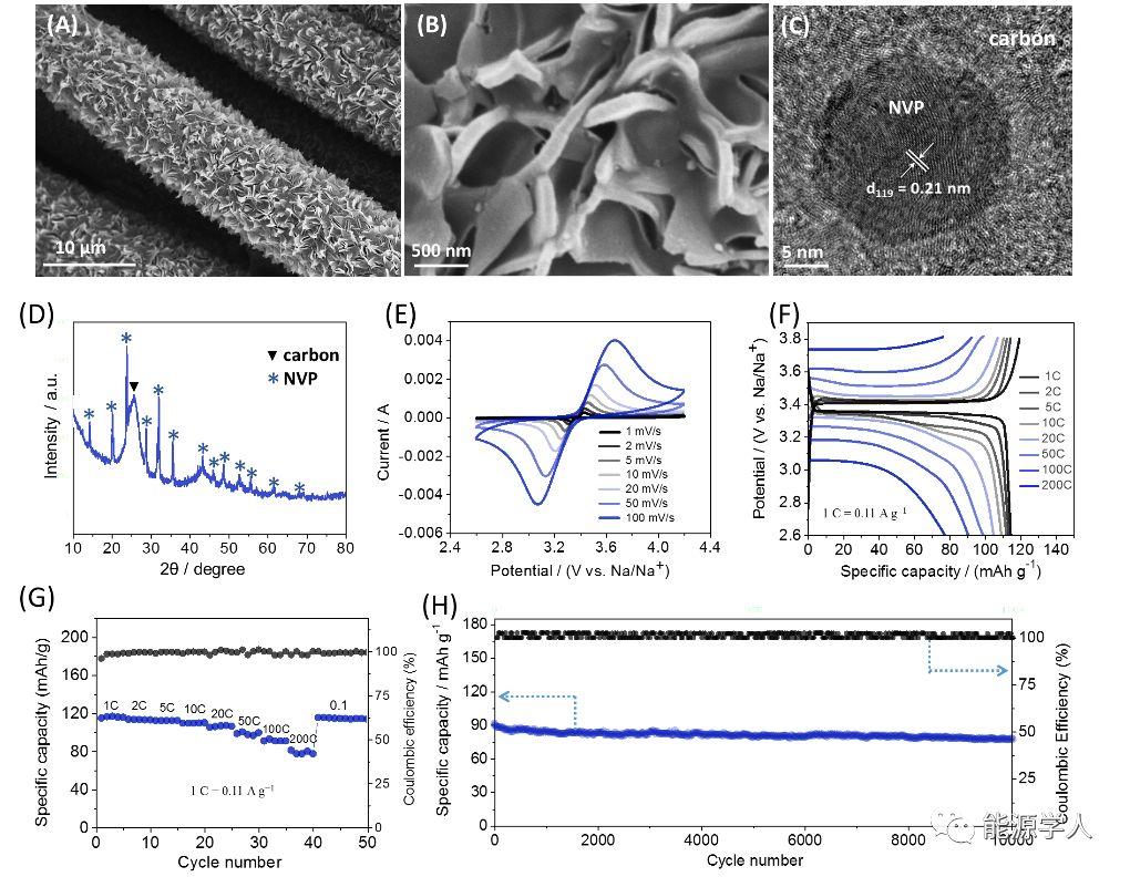 AEM:基于MOFs阵列模板构建的柔性准固态钠离子电容器