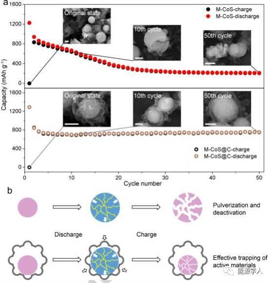 介孔CoS@类蜂窝状碳壳的核壳微球
