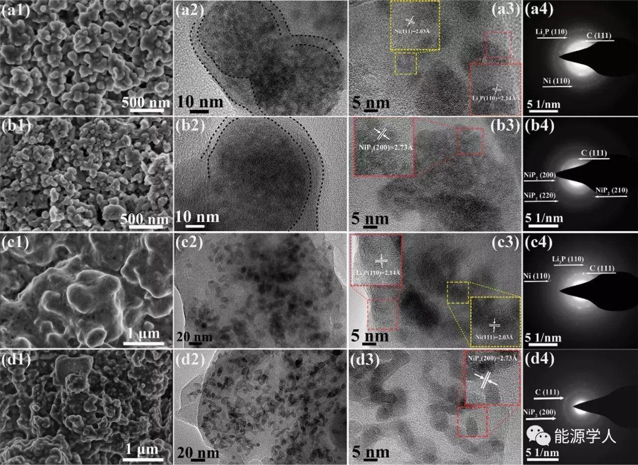 金属磷化物电极新设计--包覆并固定