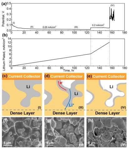 胡良兵Nano Letters:首次突破—实现锂金属负极与石榴石固态电解质界面的无缝结合