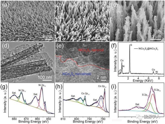 上海工程技术大学及伦敦大学学院AFM:枝状分级结构硫钴镍纳米阵列碱性电池