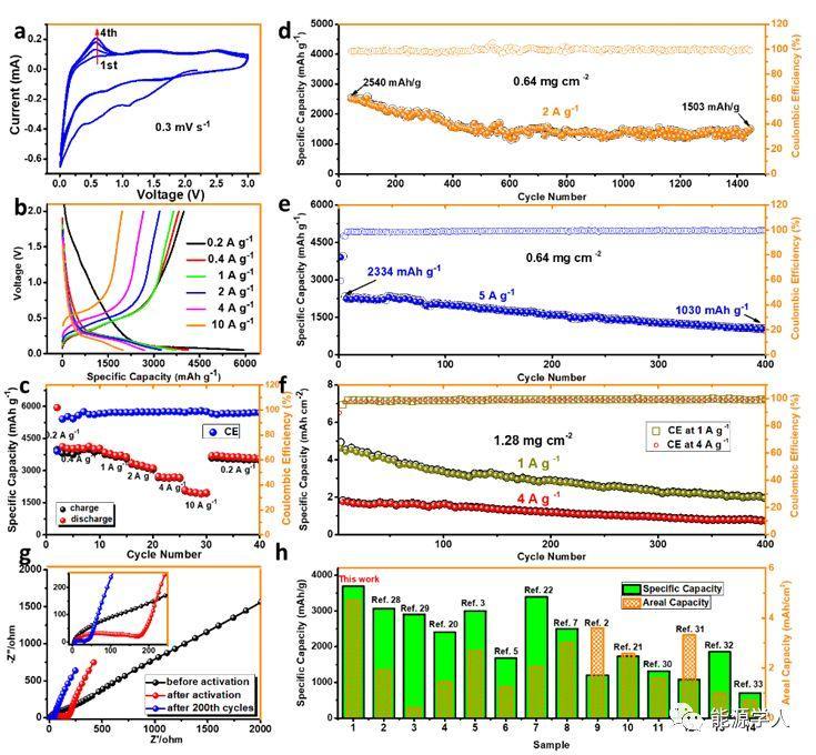 中科院化学所李玉良院士AM:全碳石墨炔低温修饰硅负极及其性能研究