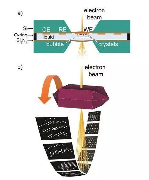 惊喜!利用原位电子衍射层析成像技术测定液相电化学TEM电池中锂离子电池正极材料的晶体结构