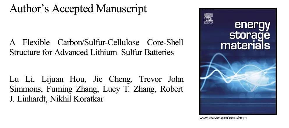 具有核-壳纤维结构的双功能锂硫电池正极