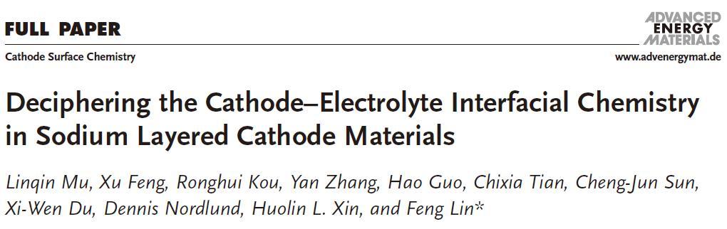 钠离子电池层状正极材料与电解质界面化学及电极性能探究