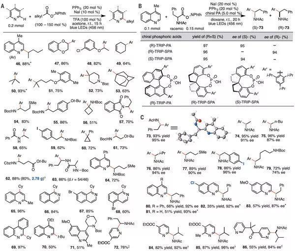 中科大傅尧&东京大学尚睿最新Science:光催化新突破!由三苯基膦和碘化钠介导的光催化脱羧烷基化反应