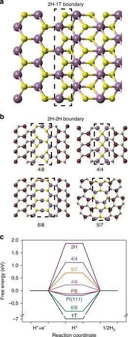 北大江颖Nat. Commun.:巧用晶界和相界,把MoS2的惰性基面变成产氢盛地!