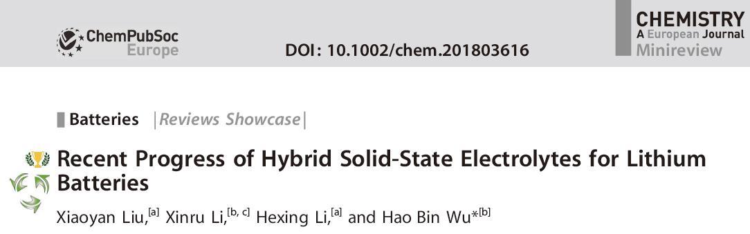 研究进展 | 用于锂金属电池的复合固态电解质