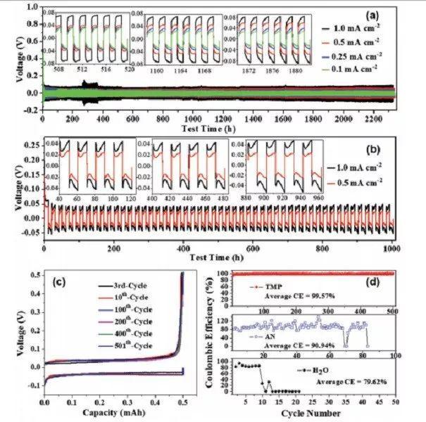 上海交大王久林AM:高可逆锌负极结合安全有机电解液助力电池长寿命