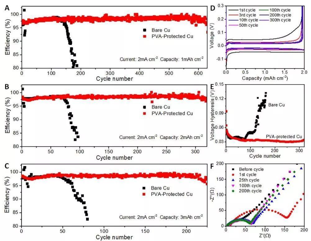 聚乙烯醇界面保护,助力高稳定性锂金属负极