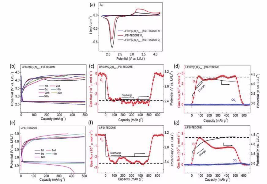 驯服Li-O2电池的界面不稳定性:聚合离子液体电解质溶液