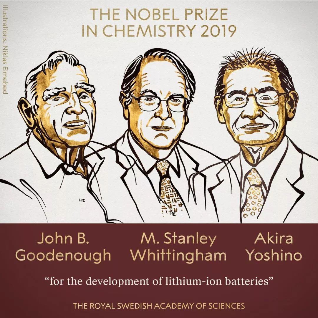 2019诺贝尔化学奖是锂离子电池的胜利!一个可充电的世界由衷感激他们!