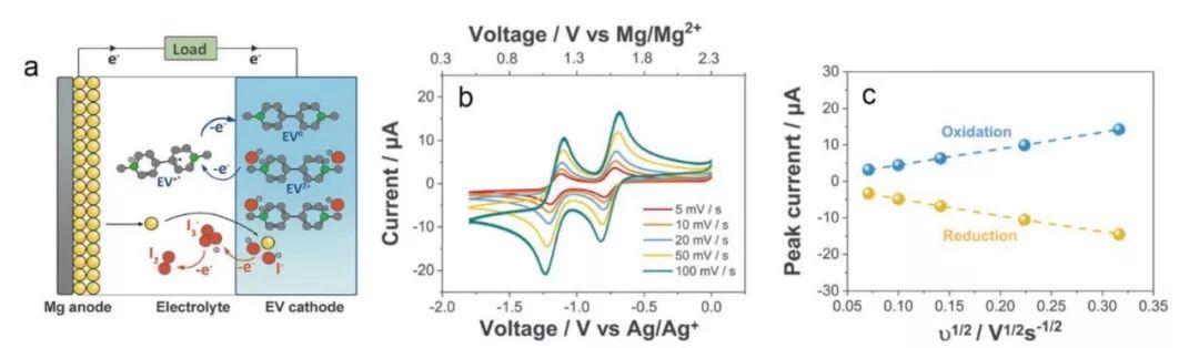 """基于快速可逆四电子转移""""紫罗碱-碘""""正极反应的镁电池"""