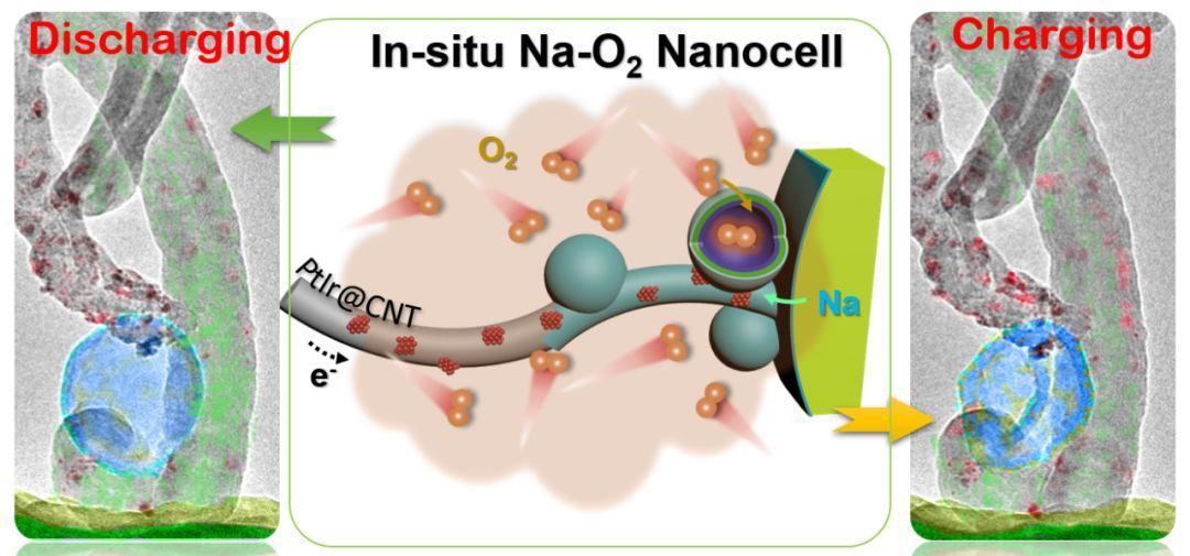 南科大谷猛组在环境球差电镜中原位观察钠-空气电池循环过程的微观相结构变化