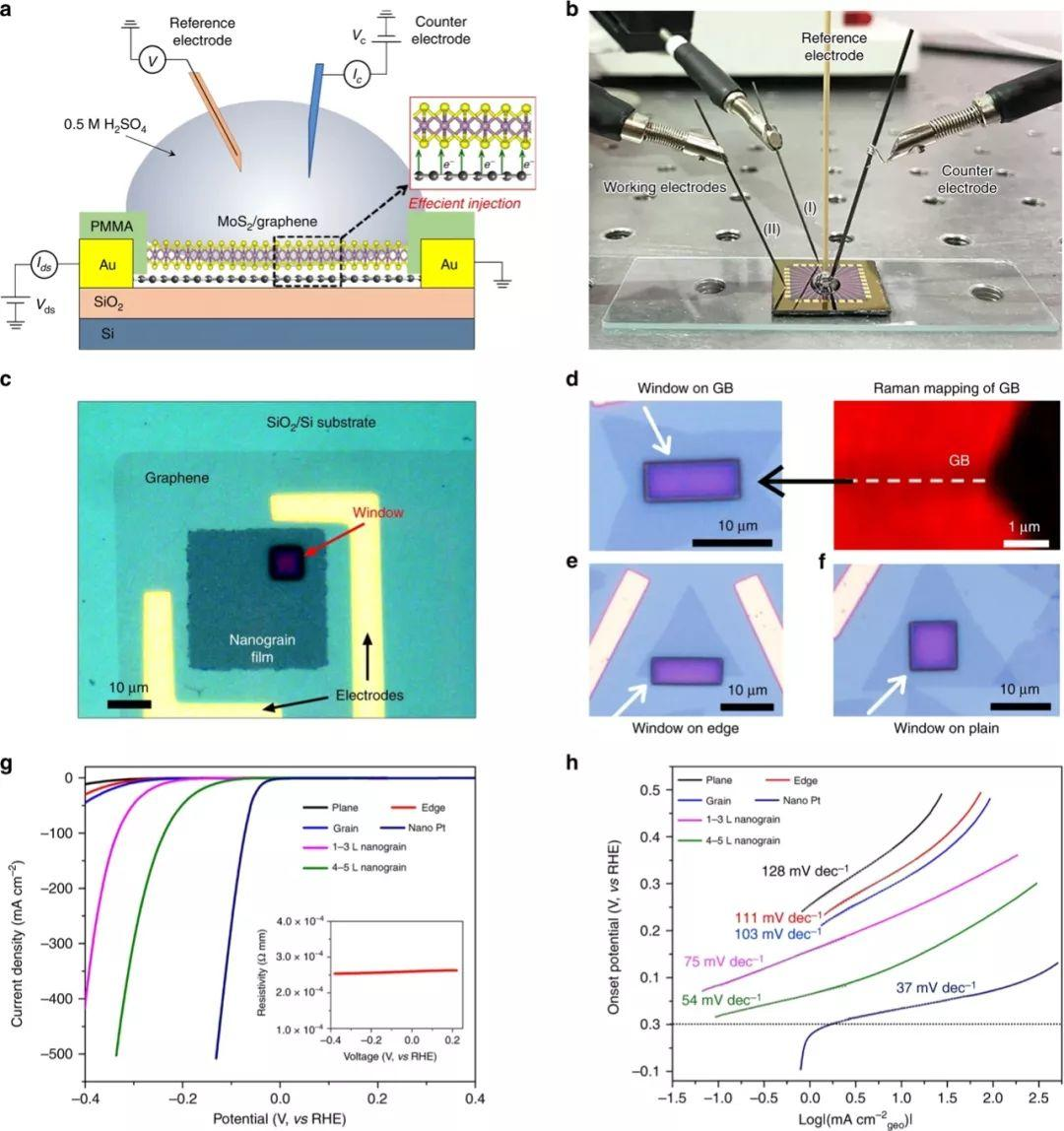 Nature Communications:设计析氢反应二维材料极限下的晶界