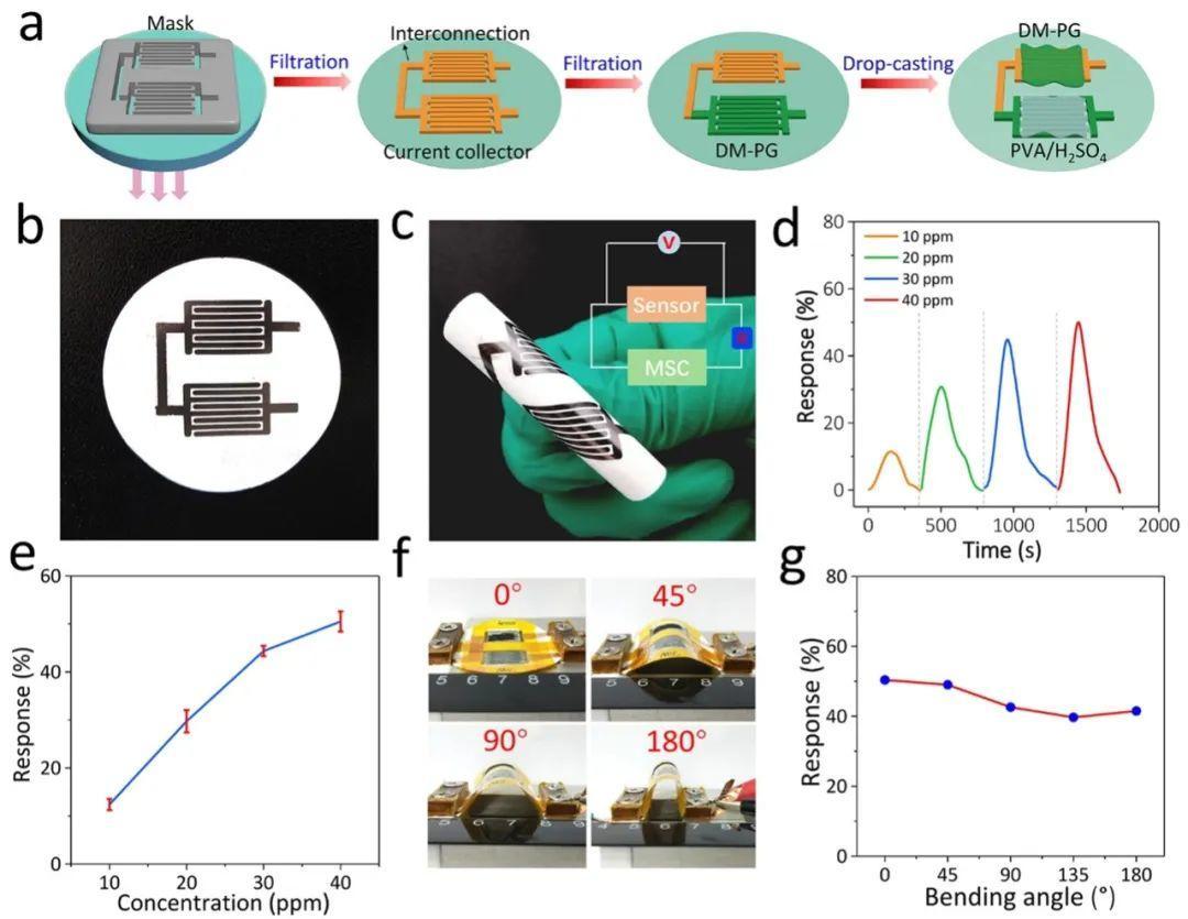 吴忠帅&冯亮AFM: 有序双介孔聚吡咯/石墨烯纳米片应用于微型超级电容器-气体传感器平面化集成微系统