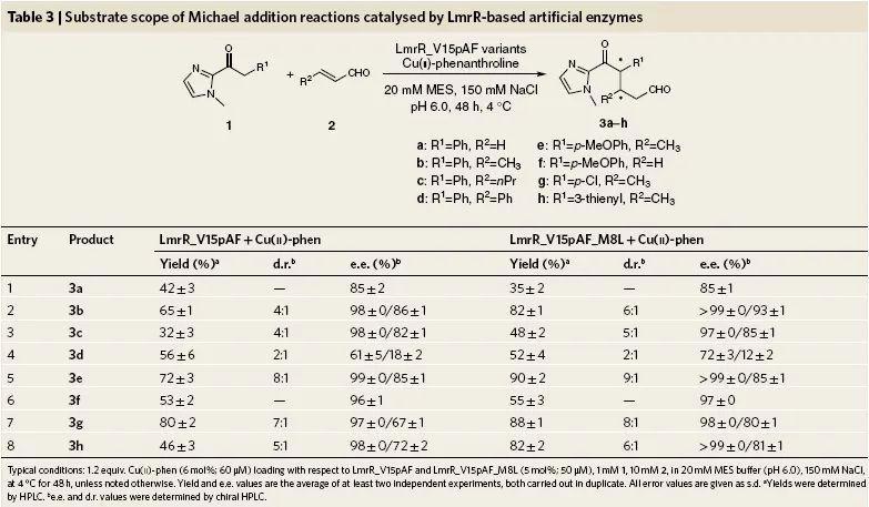 人工酶协同催化不对称Michael加成反应