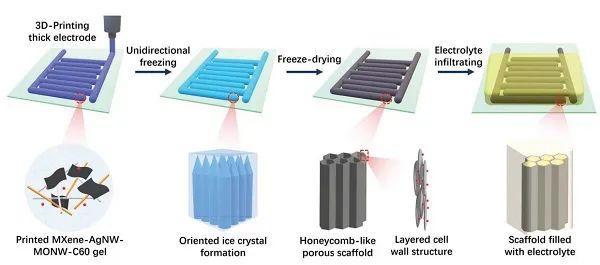 南开大学梁嘉杰AEM:具有出色面容量的3D打印可拉伸微型超级电容器