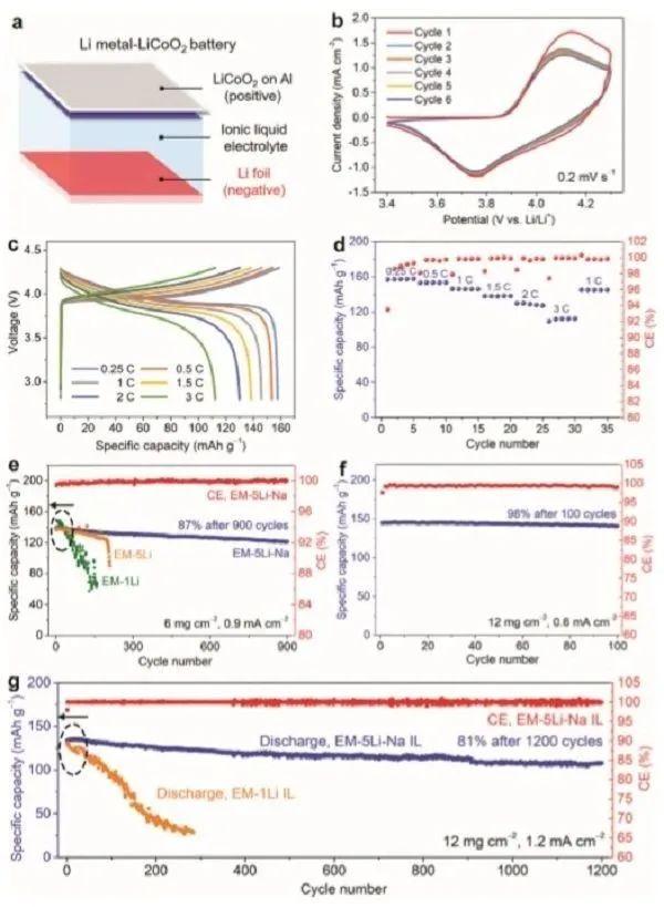 戴宏杰AM:基于新型离子液体的高安全性金属锂电池