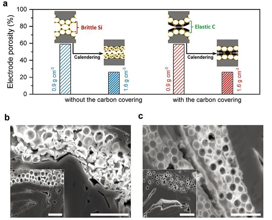 AM:不惧辊压的大孔隙高能硅碳负极