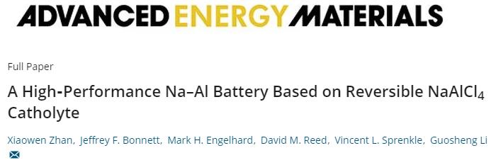 AEM:安全、高容量的Na-Al电池