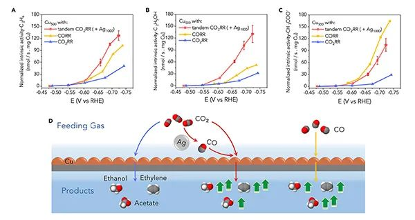 杨培东Joule:Cu-Ag串联催化剂用于高速CO2电解制备多碳产物