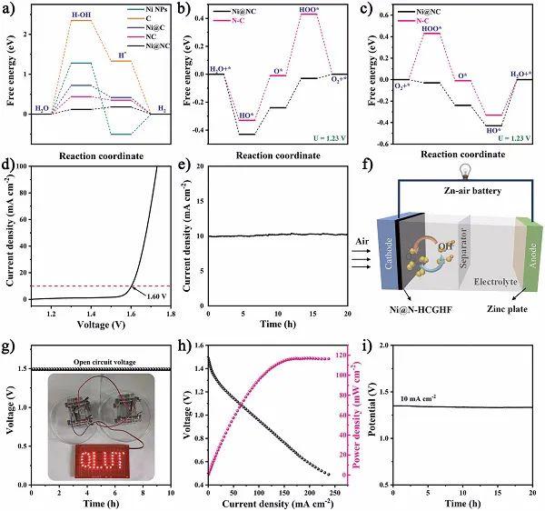 Adv. Mater.:MOF衍生的碳纳米管微球与rGO复合的自支撑三维异质结薄膜用于电解水和锌-空电池