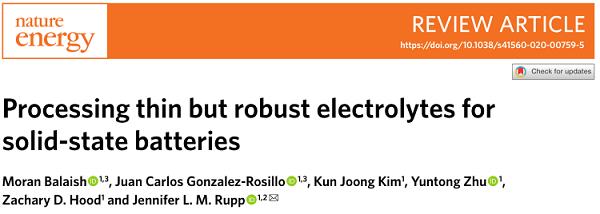 Nature Energy:固态电池商业化的挑战和应对策略