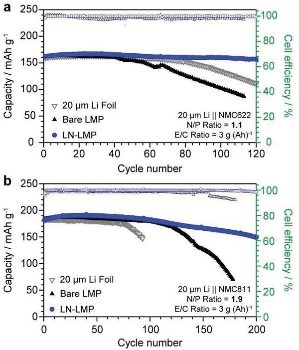 AEM:预植入LiNO3实现可持续修复SEI膜,提升超薄锂金属负极循环性能