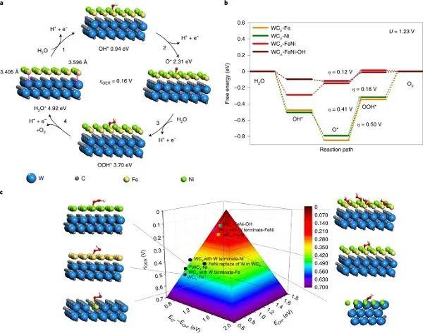Nature Materials:金属碳化物催化析氧反应