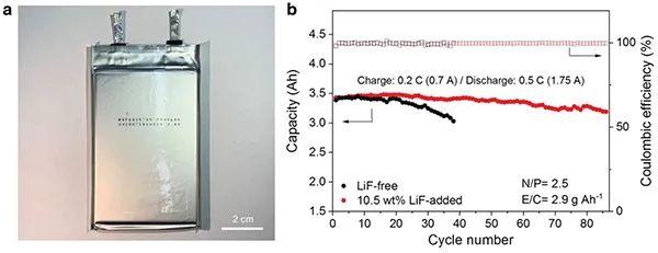 Adv. Mater.:氟化锂添加剂用于稳定锂金属电池